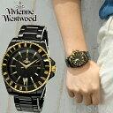 楽天腕時計&ブランドギフト SEIKA【当店ならお得クーポンあり!】(ショップ袋プレゼント)ヴィヴィアンウエストウッドVivienne Westwood VV048GDBK 時計 腕時計 メンズブラック ゴールド セラミック