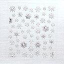 【メール便OK】【在庫限り】ダーツカスタムシール 雪の結晶 HA-21