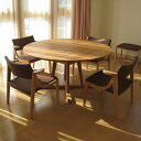 REAL Style(リアルスタイル)オリジナル ウォールナット オーク 日本製 オイル仕上 無垢家具 テーブル ローダイニング 円卓 食卓 月