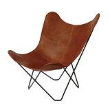 【4月入荷予定分】【代引き・時間指定不可】BKF Chair ビーケーエフ チェア / バタフライチェア (ブラウンレザー)