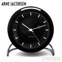 【送料無料】ARNE JACOBSEN / アルネ・ヤコブセンCITY HALL テーブルクロック(ブラック)