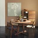 REAL Style(リアルスタイル)オリジナル 無垢家具 日本製ウォールナット オーク テーブル オイル仕上 円卓無垢天板厚:26mm(テーパーカット) デザイナー:井藤隆志