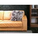 シャンファークッション 羊毛(アフガン・ラム)100%毛足が長く柔らかい最高級ファー 天然皮革...