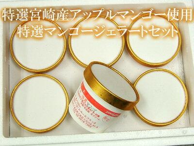宮崎産アップルマンゴーをふんだんに使ったマンゴーソルベ6個セットご自宅用簡易包装でのお届けです。ギフトでご利用の方は箱代200円追加となります。【SBZcou1208】