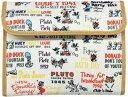 【送料無料!! クロネコDM便限定】クーザ 母子手帳ケースミッキーと仲間たち(総柄ベージュ)Wファスナー ジャバラタイプDMM-2501ディズニー