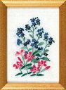フランス刺繍キット No56忘れな草と芝ざくら(15cm×11cm)