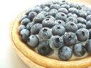 極旨のニューヨークチーズケーキに生クリームがのっただけでも贅沢なのに、ブルーベリーまで!しかもてんこもり!!直径17cmブルーベリーニューヨークチーズケーキ
