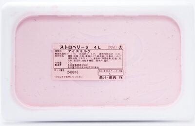 [冷凍] めいらく 業務用アイス ストロベリー 4L×3個(1ケース)