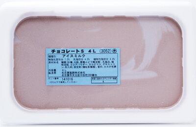 [冷凍] めいらく 業務用アイス チョコレート 4L×3個(1ケース)