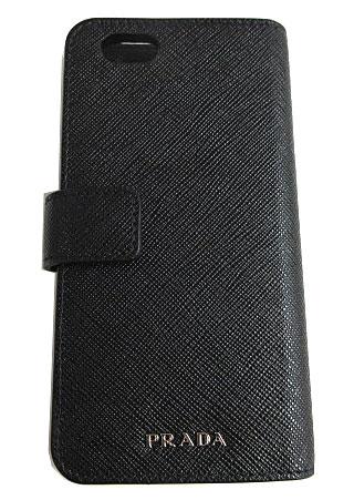 ≪送料無料≫ 新品 PRADA プラダ iphone6 二つ折り ホック付 携帯ケース 2ZH005 SAFFIANO TRAVEL NERO 黒 ブラック アクセサリー モバイル プラダ iphone6 携帯ケース アクセサリー モバイル