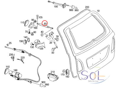 【楽天市場】SOL】ベンツ W211 リア テールゲートダンパー 右側 優良OEM E240 E280 E300
