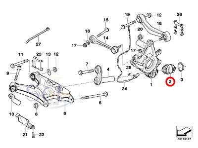 【楽天市場】BMW E38 E65 E66 リア ホイールキャリア ボールジョイント 左右共通 735i 740i