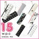 【SALE特価】折りたたみ傘 日傘 wpc 2016 mini 遮光リボンチェック 遮光リボンチャー