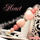 Pink Heart Ribbonブレス ♪AAAAクィーンコンクシェル AAAAピンクオパール AAAAインカローズ ロードクロサイト ブレスレット パワーストーン 天然石 ブレスレット ◎ ◇