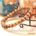 インド産白檀(サンダルウッド)  8mm 一連ブレスレット パワーストーン 天然石 ◆