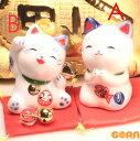 【日本製】福を呼ぶ!おねがい猫&まねき猫 置物  まねきねこ 招き猫 招きねこ  ネコ ねこ 開運