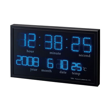 Felio交流式デジタル時計アギラFEW120(BK)
