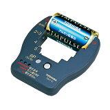 《電池の消耗具合を手軽にチェック。3段階表示のバッテリーチェッカー》東芝 バッテリーチェッカーTBC-10(K)