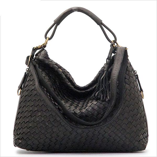 《ショルダー・ハンドバッグの2WAY仕様。A4サイズ対応》LILY メッサーラ ポニーレザーメッシュ2WAYバッグ(L)WE0203-01ブラック