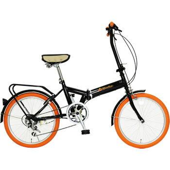 【き】【沖縄・離島配送】美和商事 FD1B-206(OR) 20インチ折畳自転車 Rhythm(リズム) リング錠付