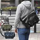ポリキャンバス × PVC メッセンジャーバッグ カジュアル カーキ ネイビー ブラック 黒