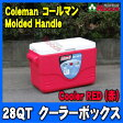 コールマン/Coleman (赤) 28QT クーラーボックス モールドハンドル【コールマン/coleman/クーラーボックス/レッド/red/28qt/モールドハンドル/molded handle】