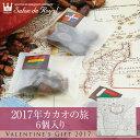 【バレンタイン】2017年カカオの旅 6個入り 【1月25日より順次配送】バレンタイン2017【ギフト チョコ 義理チョコ 友チョコ プレゼント】