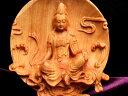 ◆限定入荷!◆5A極上手彫り◆1体4,980円◆木彫り 観音像 置物◆高さ約105-110mm◆風水やインテリアに◆木の温もりを感じる濃いめのウッドカラー♪
