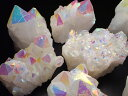 ●激安【コスモオーラ 水晶 クラスター】重さ180-200g エンジェルオーラ キラキラ 蒸着水晶 一個売り