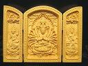 ●【扉型 観音開き】高さ約100-105mm 5A極上手彫り 1体3980円 木彫り千手観音像置物 風