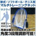 【野球 SAKURAI】 軟式・ソフトボール・テニスボール用 マルチトレーニングネット 【メール便不可】 トレーニンググッズ 自主練習 上達のコツ グッズ ピッチング 投球 練習 ネット
