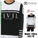 CIVIL CLOTHING 長袖 Tシャツ メンズ シヴィルクロージング ロンT 送料無料 ストリート系 ファッション モードストリート