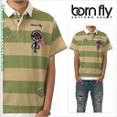 ボーンフライ 半袖 ポロシャツ メンズ BORN FLY ラガーシャツ 大きいサイズ