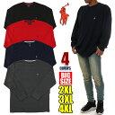 ラルフローレン 長袖 Tシャツ メンズ POLO RALPH LAUREN サーマル ロンT 大きいサイズ USAモデル ビッグサイズ 特大 ビッグT USA ブランド ファッション グレー 黒 紺 赤 ブラック ネイビー 2XL 3XL 4XL