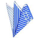 ショッピング半額以下 【半額以下】エトロ ETRO ポケットチーフ フォーマル メンズ シルク 100% 幾何柄 ブルー イタリア ブランド イタリア製 ギフト MADE IN ITALY