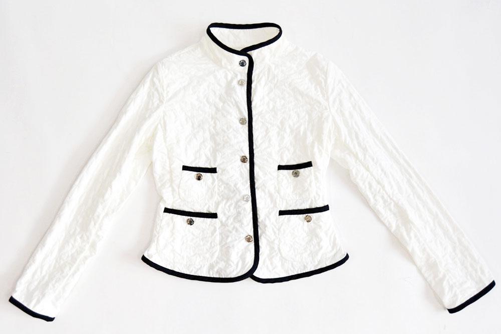 MONCLER JUNIOR/モンクレールジュニア/キルティングデザインジャケット/ブルゾン/ホワイト/【SP...