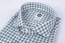 Bagutta バグッタ 【送料無料】ドレスシャツ ワイドカラー SLIM FIT 長袖 メンズ コットン 綿 100% グリーン ホワイト 緑 白 3XL/イタリア ブランド ワイシャツ カジュアルシャツ