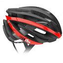 アールエイチプラス 6055ZY ロード向けヘルメット マットブラック/アローシャイニーレッド ヘルメット rh+ Helmet
