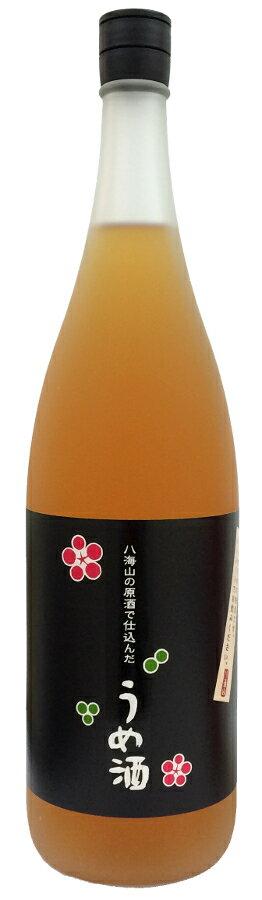 八海山の原酒で仕込んだうめ酒 1.8L【梅酒】【清酒ベース】【アルコール度数13%】【1800ml/一升瓶】【新潟】【八海醸造】はっかいさん