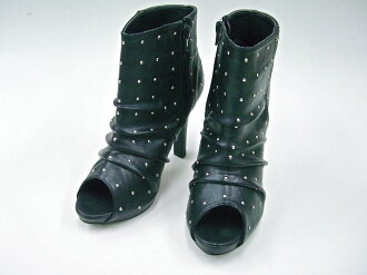Venti Anni Venti Anni 56688 ☆ rumpled studded peep toe boots