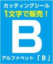メール便対応! アルファベット 大文字 「B」 1文字  【100mm×100mm】  カッティングステッカー カッティング文字 文字ステッカー