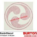BURTON バートン 【Ronin Diecut Sticker】15.2cm x 15.2cmR