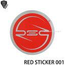 バートン レッド サークル ステッカー ミディアム 【BURTON RED CIRCLES STICKER MEDIUM】 シール スノーボード スノボ カラー:FOSSIL サイズ:M (3.2cm)