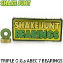 シェイクジャント トリプル ベアリング 【SHAKE JUNT TRIPLE O.G.s ABEC 7 BEARINGS】 スケートボード スケボー スピード 耐久性 パーツ 高性能 SKATEBOARD