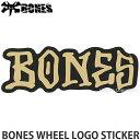 ボーンズ ボーンズ ウィール ロゴ ステッカー  スケートボード スケボー SKATEBOARD シール カスタム チューン カラー:Black/Gold