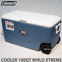 COLEMAN 100QT XTREME 5 WHEELED COOLER 【コールマン 100QT エクストリーム 5 ウィール クーラー】アウトドア キャン...