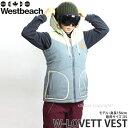 【送料無料】 16model ウエストビーチ ウィメンズ ラベット ベスト 【Westbeach LOVETT VEST】 国内正規品 スノーボード スノボ レディース ウェア ウエア SNOWBOARD WEAR WOMENS ストリート カラー:SLATE