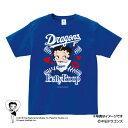 中日ドラゴンズ公認グッズBETTY BOOP ×ドラゴンズ Tシャツ dragons/ベティー ブープ /かわいい