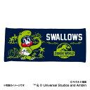 東京ヤクルトスワローズ公認グッズJURASSIC WORLD×スワローズ フェイスタオル swallows/ジュラシック ワールド/恐竜/おすすめ