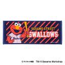 東京ヤクルトスワローズ公認グッズSESAME STREET×スワローズ フェイスタオル(ELMO) swallows/セサミストリート/エルモ/かわいい